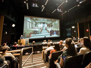 Auditoriums at UC San Diego and UC Irvine divisions of Calit2 are linked via LifeSize