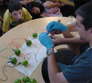 students learn about science