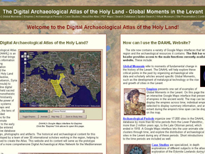 The Digital Archaeological Atlas of the Holy Land (DAAHL), which already contains data for 40,000 archaeological sites, will be the first node in MedArchNet.