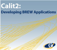 Calit2 banner at BREW conference