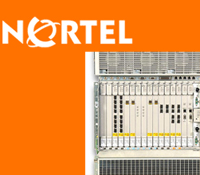 Nortel logo and server used for encryption demo at iGrid 2005