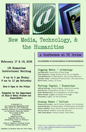 New Media, Technology, Humanities