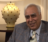 Indian Science and Technology Minister Kapil Sibal