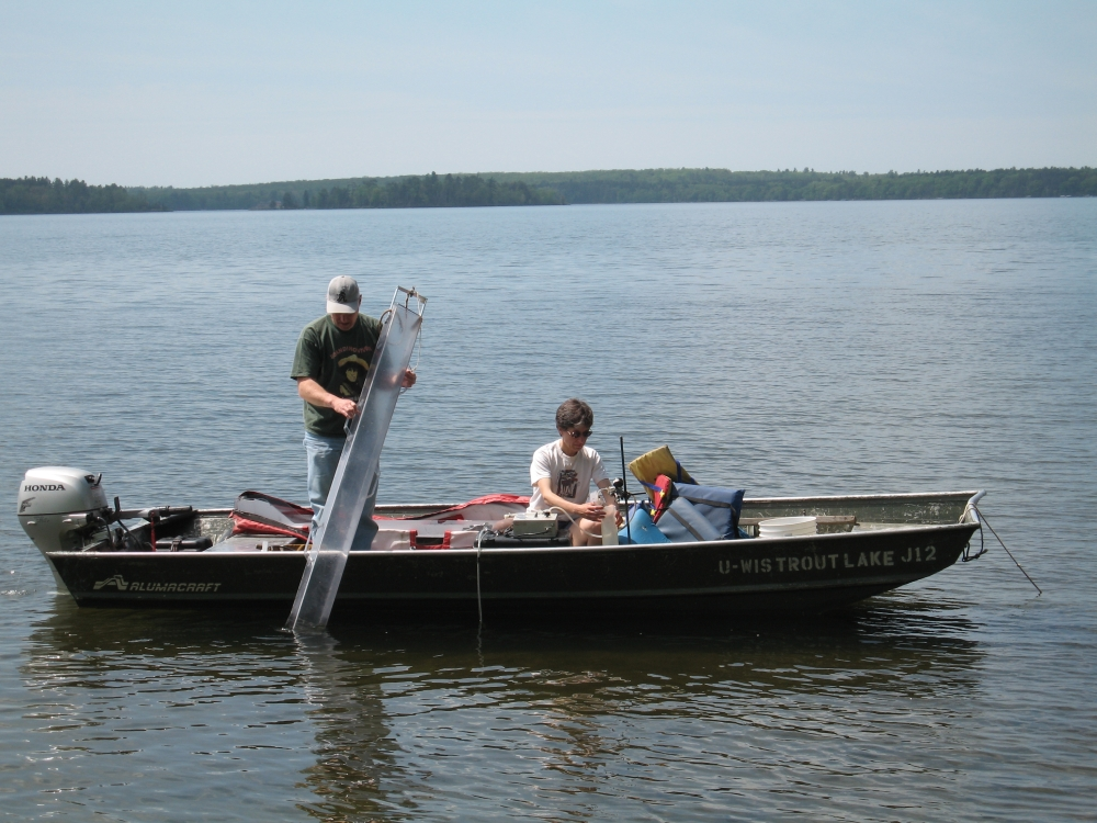 NTL site Trout Lake WI, sampling from boat