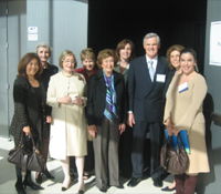 Maurizio Seracini with UCSD Town and Gown committee members in Atkinson Hall.