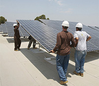Installing photovoltaic solar panels at UC San Diego