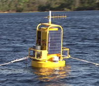 Instrumented buoy deployed on Lake Annie during GLEON 6 meeting in Florida