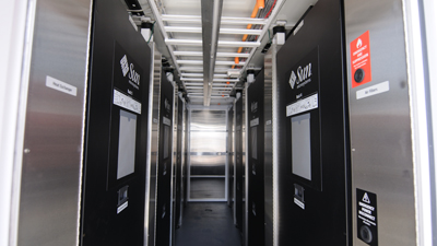 Interior of Sun Modular Datacenter