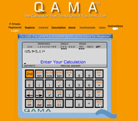 The QAMA online Web interface