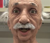 The Einstein Robot can recognize and mimic expressions of happiness, sadness, anger, fear and confus