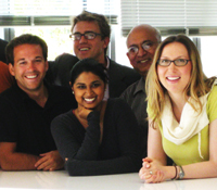 GRAIN co-founders (L-R) Albert Lin, Garrett Smith, Derek Lomas, Shivani Singh, Sukumar Srinivas and