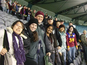 PRIME Monash at football game