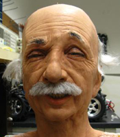 The Einstein robot head at UC San Diego performs asymmetric random facial movements as a part of the
