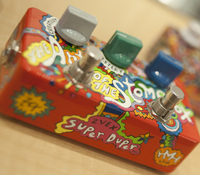 One of the stompboxes (by pedal artist Hannah Haugberg) that will be on display at the museum