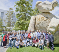 NBCR Summer Institute participants with the UCSD Bear statue