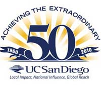 UCSD 50th anniversary logo