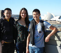 PRIME students Xiaolong Qiu, Jenifer Kaehms, and Jerry Tsai spent the summer in Australia.