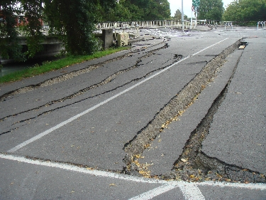 Damaged Roadway, Christchurch, NZ