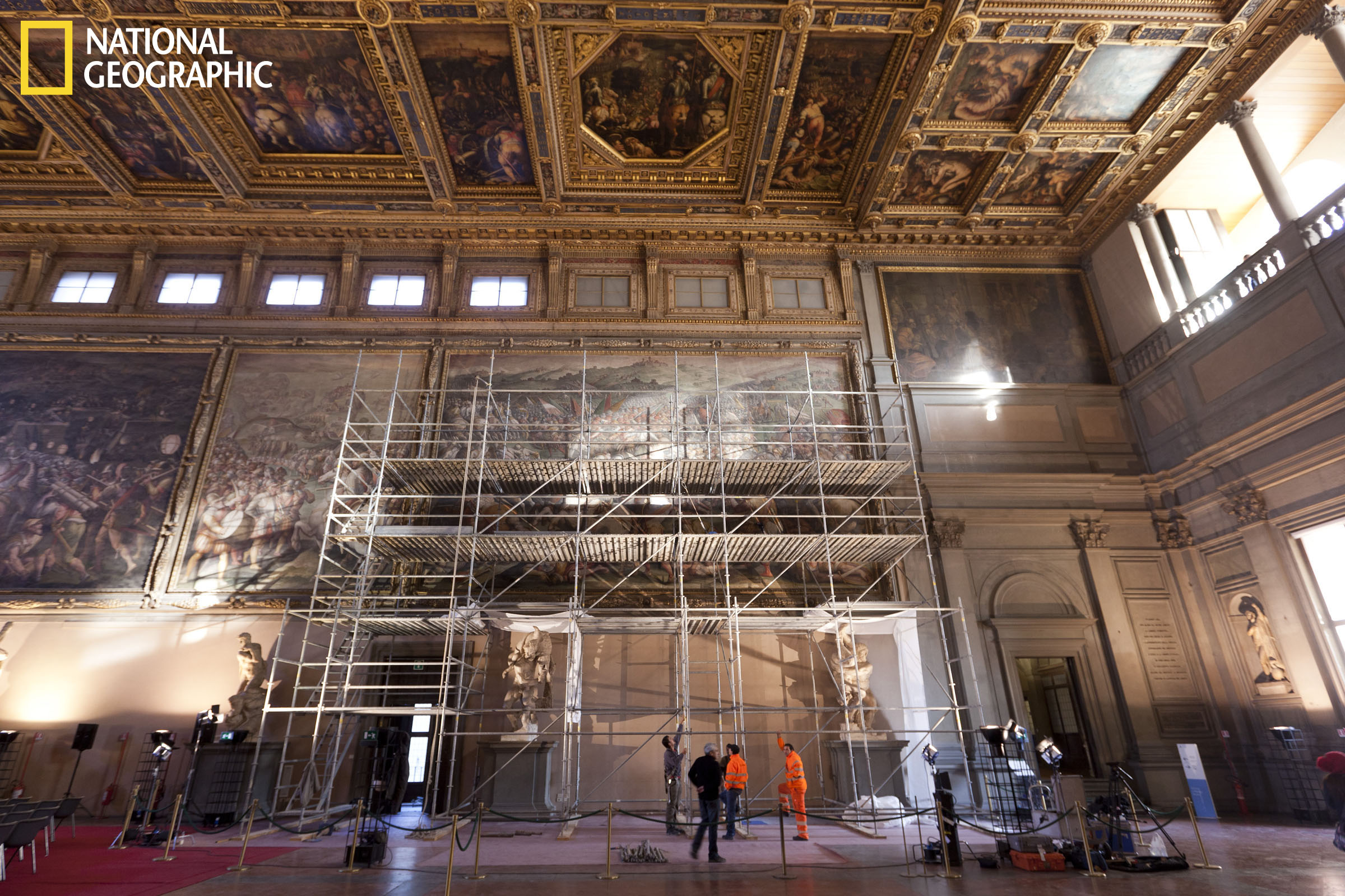Scaffolding in Hall of 500
