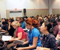 Participants in the Grace Hopper conference