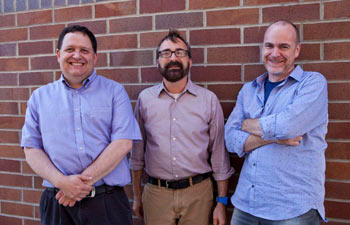 From left: Mainwaring, Maurer and Dourish will lead the five-campus effort to apply social sciences
