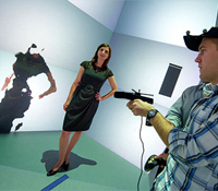 Kinect camera is used for 3D scanning