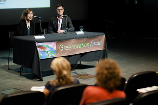 Lisa Levin and Dominique Rissolo discuss the deep sea during this month's Greenovation Forum at Calit2