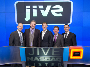 Nick Hill with the founders of Jive