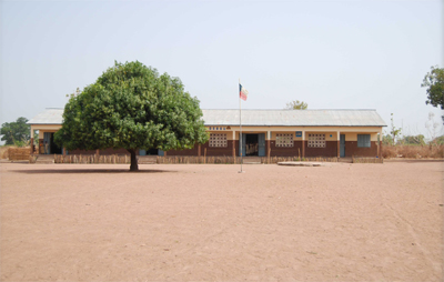 A secondary school in Benin