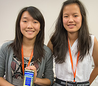 COSMOS students Tiffany Chen and Rachel Hong