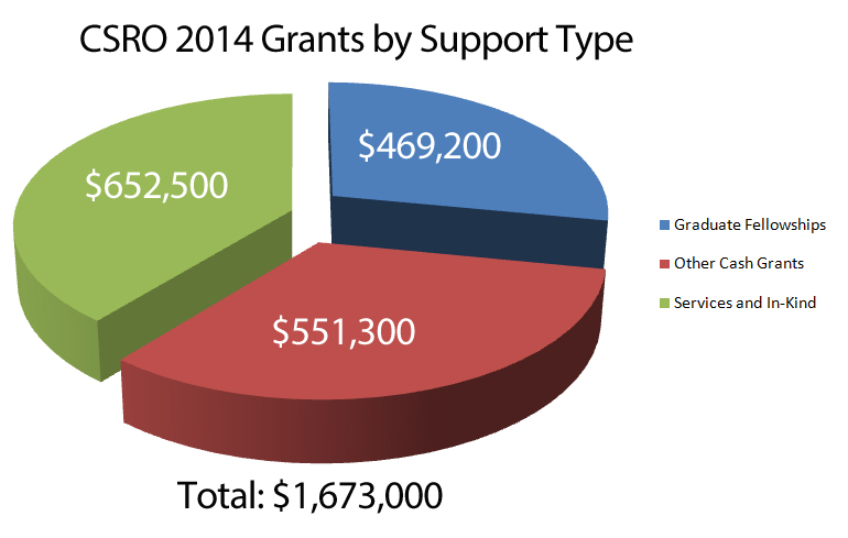CSRO 2014 Grants by Support Type