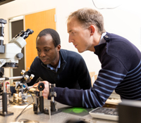 (l-r) ECE Prof. Boubacar Kante and postdoctoral researcher Thomas Lepetit