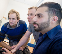 CSE Ph.D. student Jason Oberg, CSE Prof. Ryan Kastner, and postdoctoral researcher Jonathan Valameh