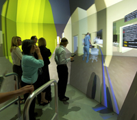 Designing a health care facility in a virtual reality environment
