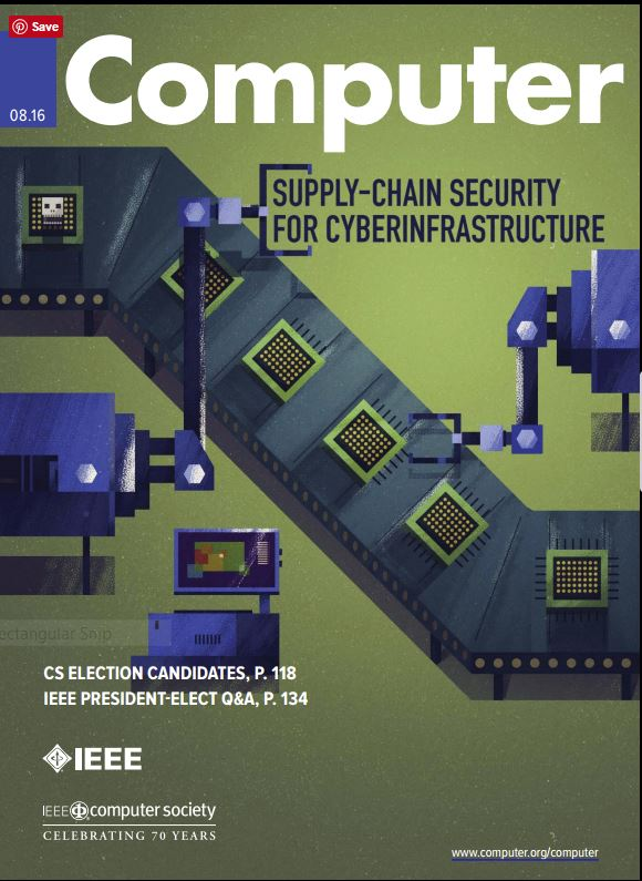 Cover of IEEE Computer, August 2016 edition
