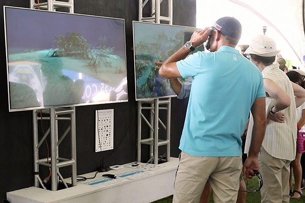 Display of Bermuda 100 shipwrecks in 3D in America