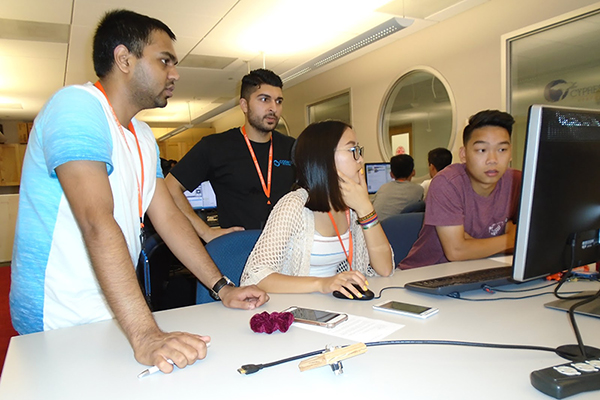 Students learn about Computers in Everyday Life in the COSMOS summer residential program at UC San D