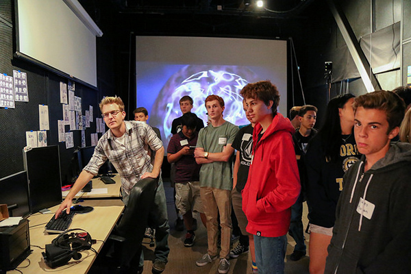 Link2 Game Design students visit QI Experimental Game Lab