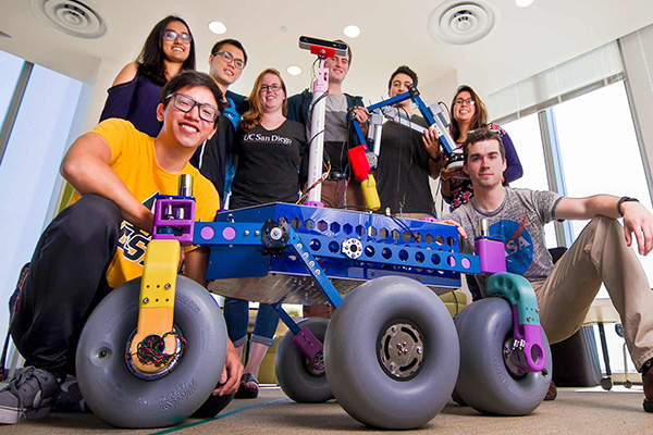 Yonder Dynamics team with rover