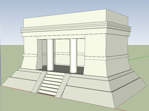 Google SketchUp image of Chichen Itza