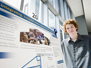 Robert Turner with his winning poster