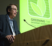 Larry Smarr address green IT conference