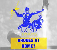 Poster for the Tritons for Drones town hall