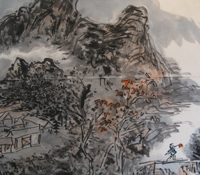 Landscape painting by the late Huang Binhong