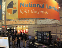 NLR booth featuring OptIPuter