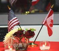 Canadian and U.S. for Calit2 reception honoring Vancouver wireless executives