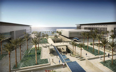 Artist rending of KAUST campus on the Red Sea